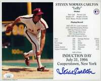 Steve Carlton Jsa Coa Autograph Hand Signed 8X10 Photo