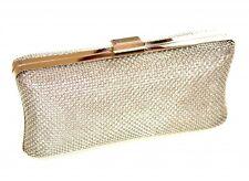 POCHETTE ARGENTO donna borsello rigido clutch bag elegante borsa cerimonia 1075