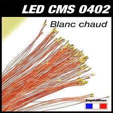 C144bc# LED CMS pré-câblé 0402 blanc chaud fil émaillé 5 à 20pcs  - prewired LED
