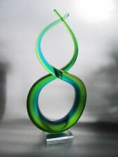 """Gorgeous Vintage MURANO Art Glass Hand Blown Triple Cased Sommerso Sculpture 15"""""""