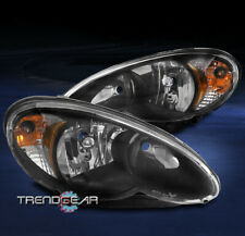 FOR 2006-2010 CHRYSLER PT CRUISER REPLACEMENT HEADLIGHTS HEADLAMPS LAMPS BLACK