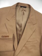 BROOKS BROTHERS MENS 56 46 R 100% CAMELHAIR BLAZER JACKET TAN BEIGE ITALY MADE