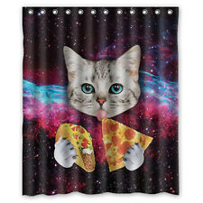 Waterproof Polyester Fabric Various Pattern 12 Hooks Bathroom Shower Curtain R