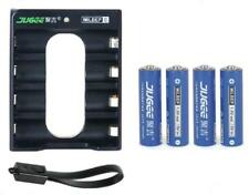 4pcs JUGEE 1.5v 3000mWh lithium Li-ion AA rechargeable power battery + charger