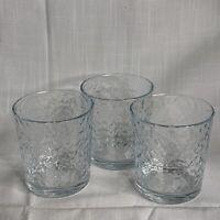 "3 Circleware Old Fashion Glasses 5"" Tall 12oz."