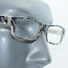 Reading Glasses Sharp Ink Style Tattoo Graffiti Frame +1.50 White Black