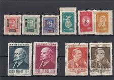 Cina Anni 1950 - 1955 Lotto di 10 Pezzi
