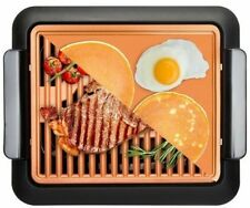Gotham Steel Smokeless Indoor Grill + Griddle 2 in 1 Combo–As Seen on TV