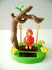 Solar Powered Dancing Red Canary Swing On A Tree