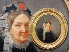 Sehr frühes oval Biedermeier Portrait. Damenportrait Ölgemälde, signiert R. Mart