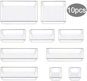 10er Set Schubladen Organizer Box Fach Einteiler Küche Kosmetik Kombinierbare