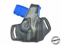OWB Thumb Break Leather Belt Holster Fits Smith & Wesson M&P SHIELD 45