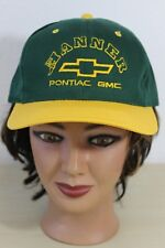 Hanner Pontiac GMC Green & Yellow Baseball Trucker Cap Hat Snapback