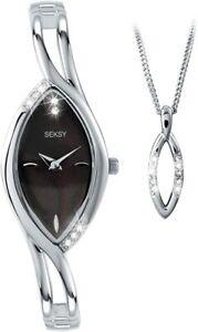 Ladies Seksy Sekonda Swarovski Crystal Watch with Matching Necklace 4405G Rp £85