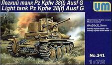 UM 341 Pz Kpfw 38(t) Ausf. G German light tank 1/72