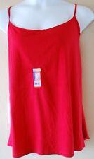 WOMEN'S PLUS SIZE 3X 22W 24W RED CAMI SHIRT - CLOTHING NEW