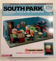 NEW South Park Cartman Kyle & Mr Garrison Classroom 259 Piece Construction Set