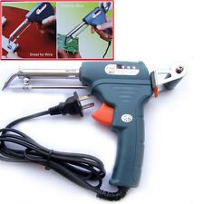 1PCS Hand-held 220V 60W Soldering Iron Gun Automatic Solder wire + Welding stand
