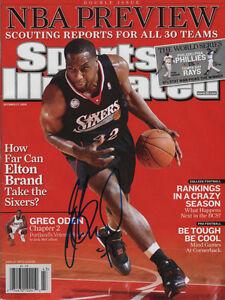 Elton Brand Philadelphia 76ers SIGNED Regional Sports Illustrated NL COA!