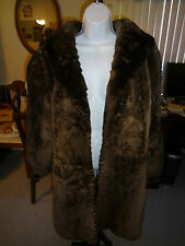 AWESOME 100% Authentic BRICKER-TUNIS FURS Coat 10-12 Medium Sable Brown L@@K