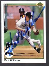 1990 UD Upper Deck #577 Matt Williams Signed Baseball Card Autographed Giants