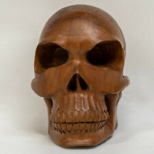 Sono Wood Hand Carved Skull Skeleton Sculpture Ornament Gothic Magic  feeanddave