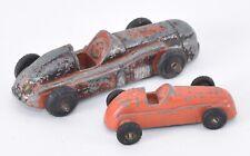 Midgetoy Diecast Metal Orange Red Derby Race Car Vintage Lot