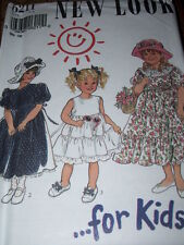NEW LOOK #6211-GIRLS (3 STYLE) TIERED PRINCESS-FLOWER GIRL DRESS PATTERN  3-8 FF