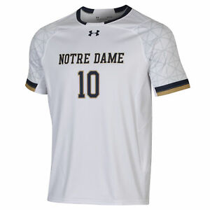 Notre Dame Fighting Irish Under Armour White #10 Light Speed Soccer Jersey