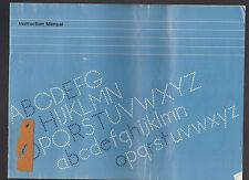 Brother Typewriter Printer 1980 Instruction Manual