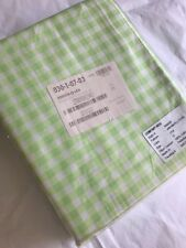 Company Store Bedding Gingham Percale Fitted Sheet Queen Leaf Green 100% Cotton