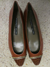 BEAUTIFUL MARTINEZ VALERO 6 1/2 B SHOES BROWN LEATHER MADE IN SPAIN