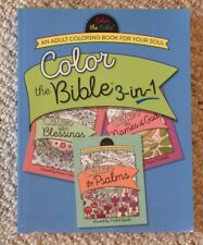 Huge Color the Bible 3 in 1 Adult Coloring Book For Your Soul BN Grown Up, Relax