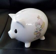 Enesco 1994 Precious Moments Piggy Bank with Poem & Clown Balloons