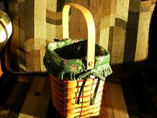Mint Longaberger 1997 Retired Peg Basket Combo. Fabric liner, plastic protector.
