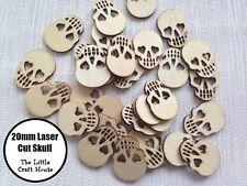 10 x 20mm Wooden Skull Laser Cut Shape Ply Blank Craft Skulls Wood Shapes DIY