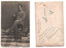 Fotografia SOLDATO Chianale 1917 Prima Guerra Mondiale Cartolina Militare Photo