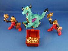 Fisher Price Great Adventure Dragon Duel Teal Turquiose Dragon Knight Gold chest