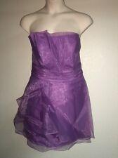 Davids Bridal Strapless Organza Dress Wisteria Plus Size 26 F14335 A-Line NWT
