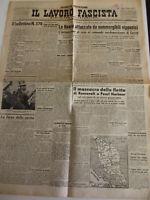"""7 QUOTIDIANI""""IL LAVORO FASCISTA """"1942--ORIGINALI D'EPOCA"""