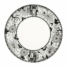 Dinner Plates Set of 4 - Spooky Lace Perfect for Halloween