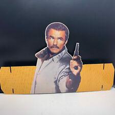 VINTAGE CARDBOARD HAT sign retro advertising Burt Reynolds Heat Stick Gator Fuzz