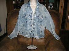 Vintage Levi's  Acid Wash Denim Trucker Jacket 70507-0219 Size XL Red Tag