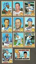 Lot of (11) 1968 Topps Chicago Cubs Signed Baseball Cards (Inv.#140)