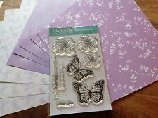 """Lelli-Bot Crafts ~ Radiant Butterflies ~ A6 Stamps & 8"""" Paper Pack"""