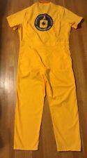 CIA Central Intelligence Agency Logo Coveralls Yellow Medium 42/44 Short Sleeve