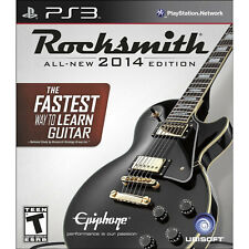 Rocksmith 2014 Edition Playstation 3 Video Game WITH REAL TONE CABLE ps3