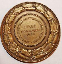 Medaille XIVe Fete Federale de Gymnastique Feminine LILLE 1933 bronze signe (20)