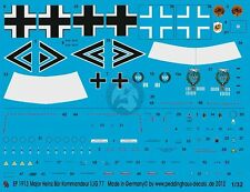 Peddinghaus 1/32 Bf 109 F-4 and A-7/R3 Markings Heinz  Bär WWII (2 choices) 1913