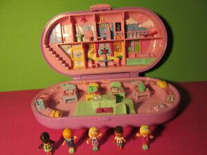 Polly Pocket Mini ♥ Süße Stempel Schule ♥ Stampin School ♥ 1992 ♥ 5 Pollys